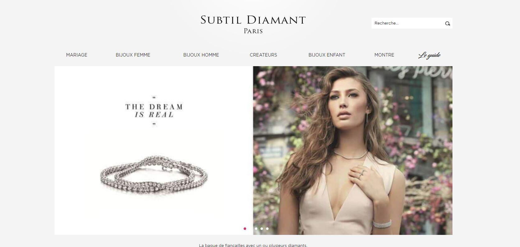 Site ecommerce de bijoux